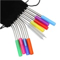 100% Food Grade Silicone Tip Straw Case Opvouwbaar