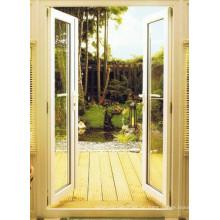 Pulverbeschichtete Aluminiumlegierungs-Doppelglasurflügel-Tür