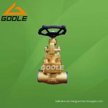 Válvula de puerta de soldadura de vapor de bronce forjado (GAZ61Y)