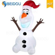 Vente en gros Personnage de dessin animé Santa Claus de l'ours géant Inflatable Christmas Olaf