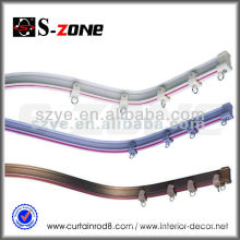 GD26 white aluminum curtain rail accessories with bay window