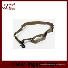Tático um 1 único ponto Sling ajustável Bungee Rifle arma Sling cinta sistema tático ponto único arma Sling