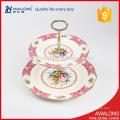 Placa de fruta de postre de porcelana real para fiestas de hogar y regalo de boda