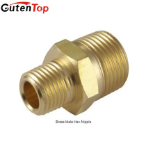 GutenTop High Quality Brass Reducing Connector Hex Nipple 1/2inch with Male NPT Threaded