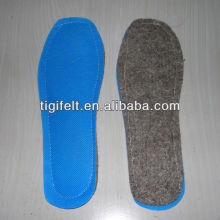 colored insoles made of high quality felt