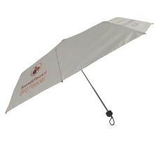 Parapluie ouvert manuel de protection solaire d'impression de logo personnalisé blanc à 3 plis