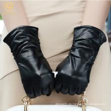 ZF5789 Damen Kleid Thinsulate Gefüttert Schwarz Leder Handschuhe