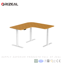 Nouveau bureau L en forme de bureau sit-stand workstation électrique Table de hauteur réglable