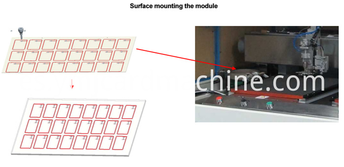 Contactless Smart Card Module Mounting Machine