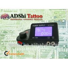 2013 profesional de alta calidad ADShi Blue LED pantalla única fuente de alimentación de salida de tatuaje