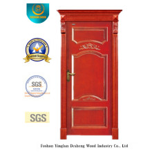 European Style Wooden Door with Simplified Carving (DS-6004)