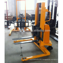 Semi-Electric Stacker with 2ton capacity with straddle leg option