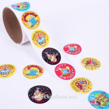 Birthday Party paper roll sticker