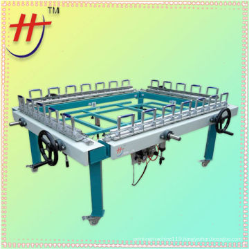 semi automatic double chuck screen stretching machine with high quality