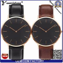 Yxl-008 vente chaude visage noir homme montre-bracelet dw montre