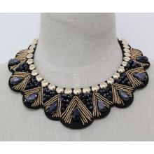 Frau Mode Modeschmuck Perlen Kristall Halsband Halskette (JE0142-2)