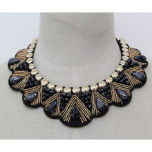 Женщина мода костюм ювелирные изделия из бисера Кристалл воротник ожерелье (JE0142-2)