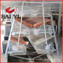 3 / 4 Level 9-24 Cell Poultry Farming Rabbit Cages