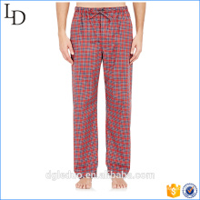 Calças de pijama dos homens sofe ventile calças vestido de casa para menino