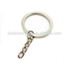 Moda de alta qualidade Metal 30 milímetros anel dividido plano com corrente