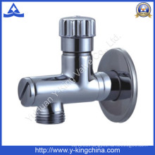 Good Polished Brass Angle Valve for Water (YD-5034)