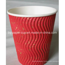 Custom of Ripple Paper Cup for Hot Drinking