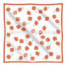 Рука печатных малых площади 100% шелк украл платок шарф