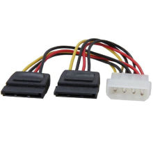 Molex to SATA Power Y Splitter Cable