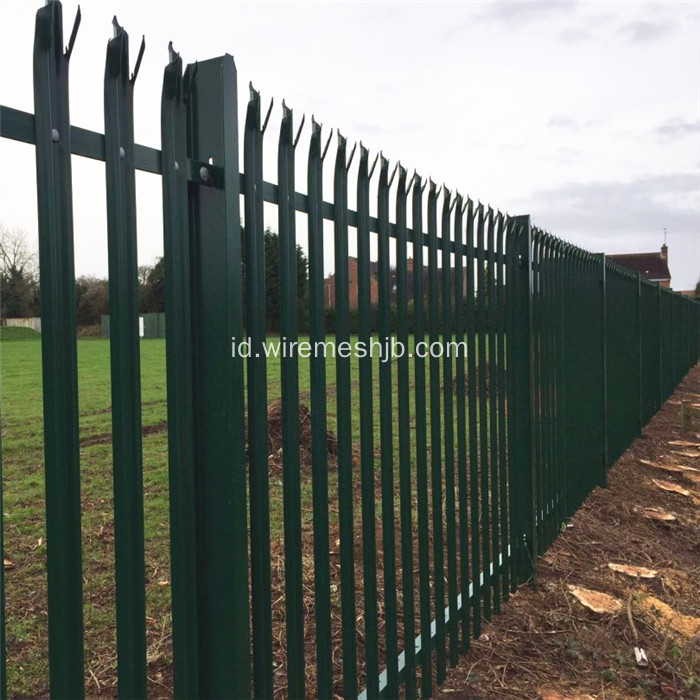 W Section Triple Pointed Security Palisade Fencing