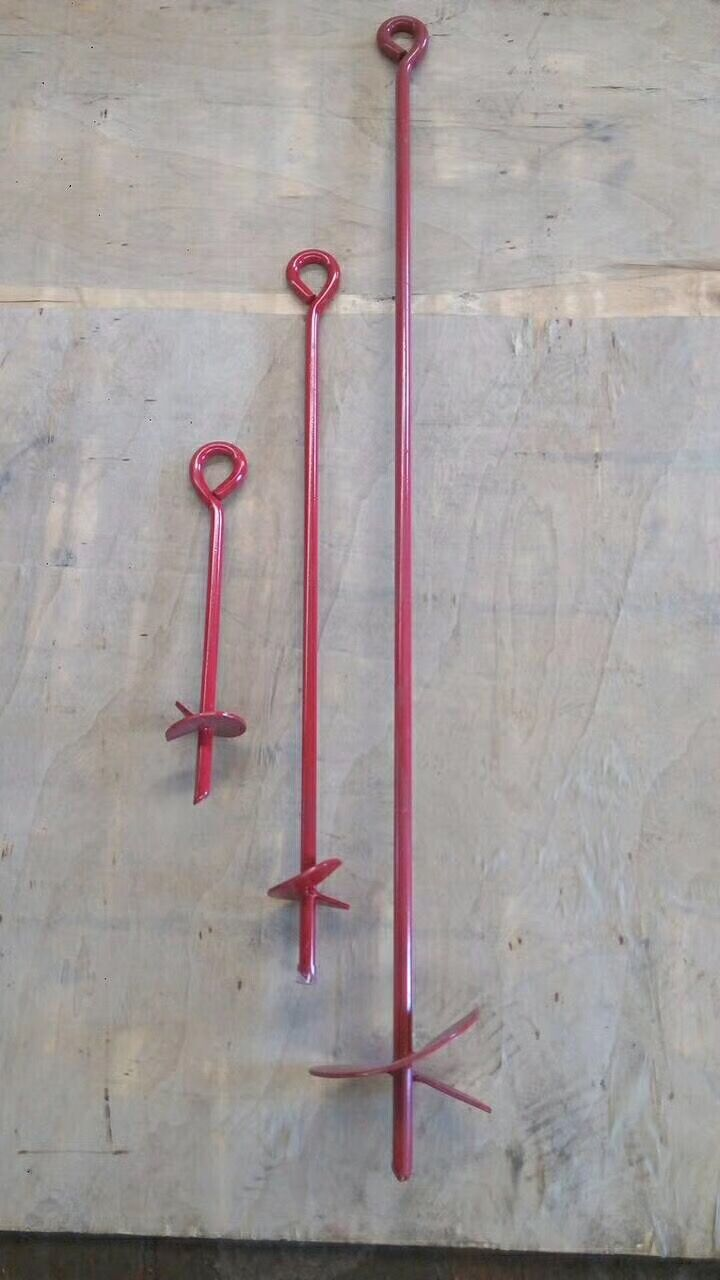 Auger Anchors For Carports : Steel tree ground anchor china manufacturer