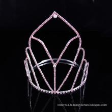 Simple Design Crown Rhinestone Tiara Crystal Crowns