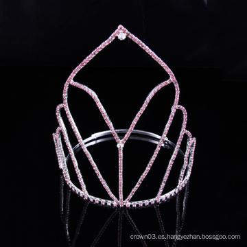 Coronas de cristal de la tiara del Rhinestone de la corona de la manera simple