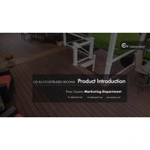 Durable polymer capped co-extrusion wpc decking, co extruded decking, extruded plastic composite decking