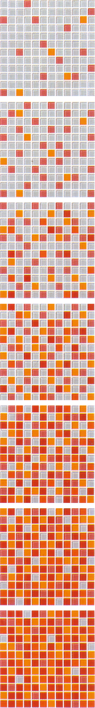 Orange Gradual Change Mosaic