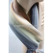 Bufanda hecha punto rayada del invierno de los hombres y de las mujeres de alta calidad