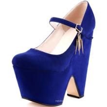 оптовая дешевые синий черный платформе насос обувь из Китая