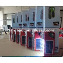Pequena economia de energia mão lanterna luz solar camping lâmpada / luz