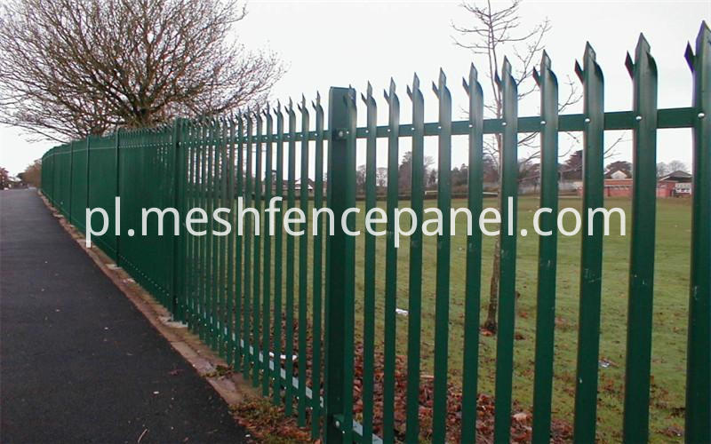 palisade fence applications D and W profile shapes