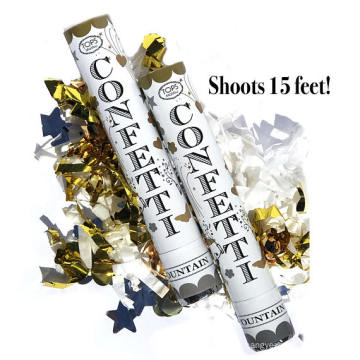 (12 Pack) Large (12 Inch) Confetti Cannons Air Compressed Party Poppers Indoor and Outdoor Safe Perfect For Any Party New Years
