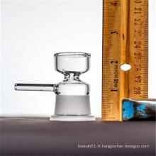 Bol de verre à glissière femelle de 14 mm pour la vente au détail de tabac (ES-AC-033)