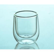Wholesale Clear Double Wall Glass Coffee Cup, Cheap Double Wall Beer Drinking Glass Cup 70ml