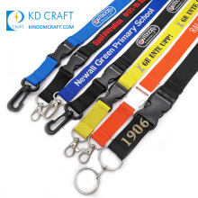 High quality detachable neck strap embroidered jacquard logo personalizado polyester woven custom lanyard