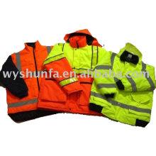 Reflektierende Jacke für den Winter