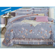4 pedaços edredon conjunto conjunto de cama