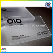 Customized printed clear printing visiting cards
