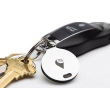 Анти-потерянный трекер локатор для телефона, ключей, домашних животных и бумажник-Белый