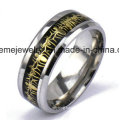 Stainless Steel Inlaid Wood Ring Commemorate Jewelry Ring (SSR2708)