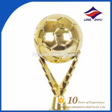 Troféu de metal comemorativo de futebol para jogo esportivo
