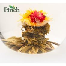 Neue Ankunft Chinesische Fujian Tee Mini Blossom Tee Ball Lemon Flavored Blühende Tee Vakuumverpackung