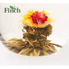 Recién llegado de China Fujian Tea Mini Blossom Tea Ball Limón con sabor Blooming Tea Vacuum Packing